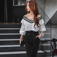 Original 2018 Brand Bodysuit Women Sweet Fashion Sexy Big V neck Spring Autumn Jumpsuits Women Wholesale