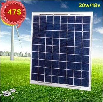 20W/18v High quality polycrystalline solar panel, for 12V battery charging,Free shipping polycrystalline solar cell