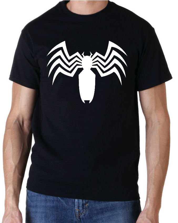 Ultimate Spiderman Venom Chest Logo Mens Blk TS