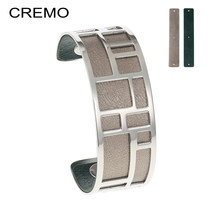 Cremo Bracelets & Bangles For Women Stainless Steel Bangle Silver Femme Manchette Reversible Labyrinth Arm Cuff Jewelry Pulseras(China)