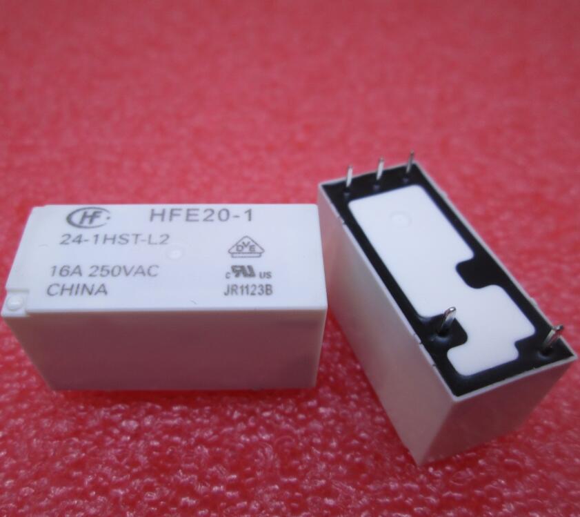NEW relay HFE20-1-24-1HST-L2 HFE20-1 24-1HST-L2 24VDC DC24V 24V 16A 250VAC 5pin new 24v relay nt73 2c 12 dc24v nt73 2c s12 dc24v nt732c12 dc24v nt73 2c s12 24vdc dc24v 24vdc 24v 6a 250vac 5pin