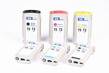 For HP 72 Compatible Ink Cartridge Full With 130ML For HP DesignJet T610 T770 T1100 T1100PS T1120 T1120PS T2300 Printer 6 Colors