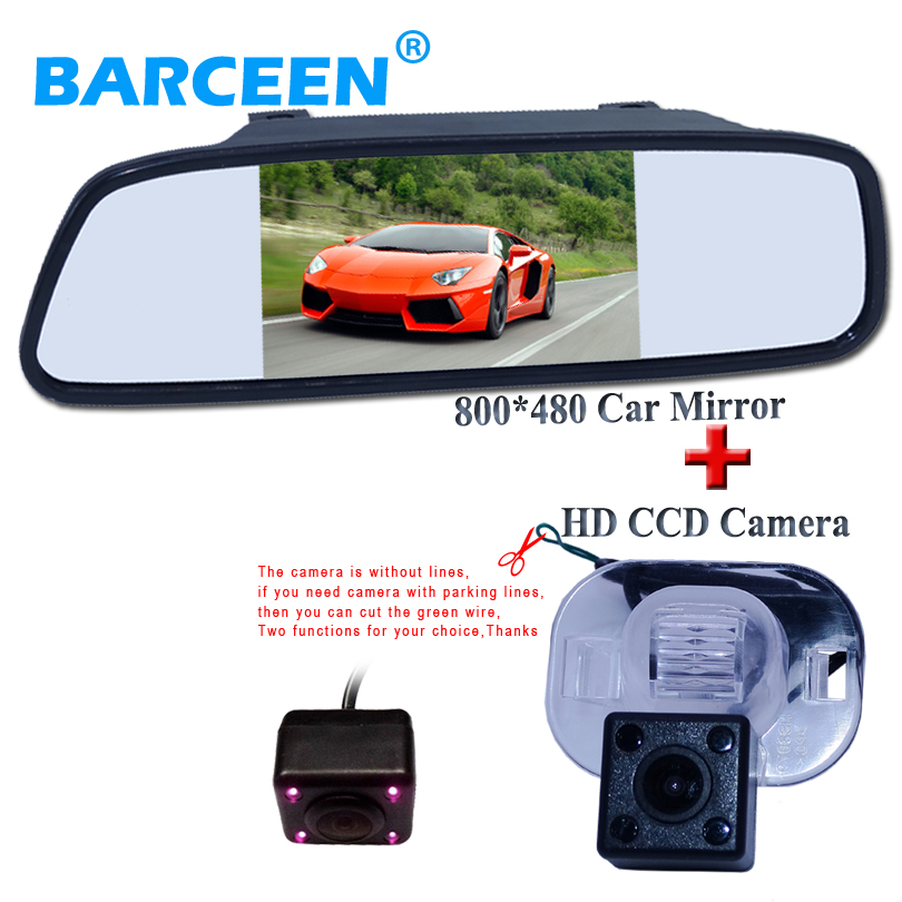Promotion For 5 inch digital Tft Lcd car mirror monitor with rear view camera for Hyundai