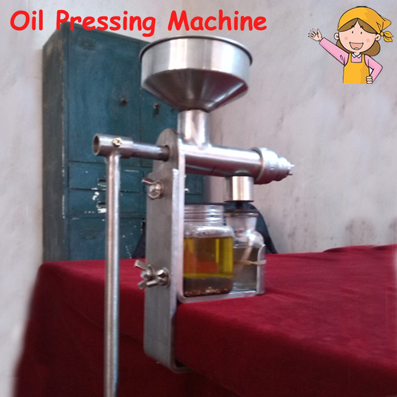 Manual Oil Presser Peanut Nuts Seeds Oil Press/ Expeller Oil Extractor Machine HY-03