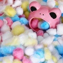2019hot 100 шт./пакет красочные зимние теплые ватные шарики милые клетки дом наполнитель для хомяк крыса мышь маленькие животные домашних животных