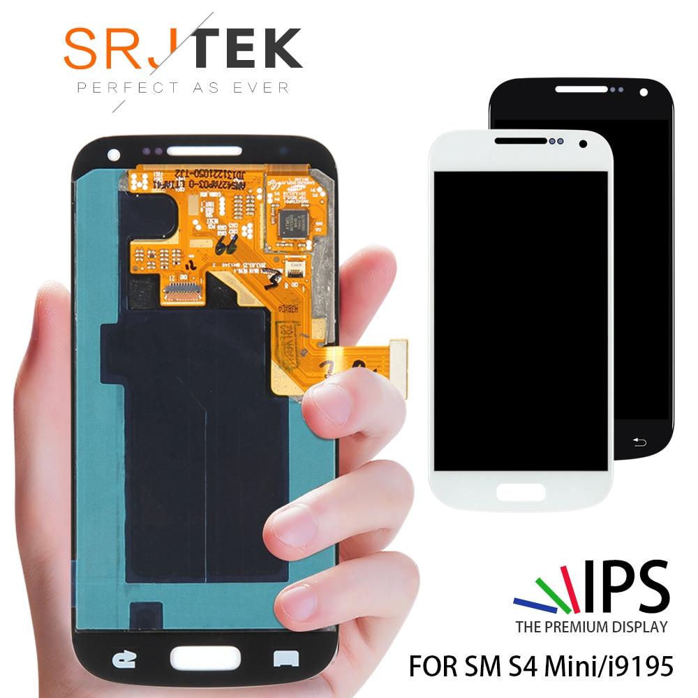 7ffa640544d Cheap Para Samsung Galaxy S4 Mini i9195 i9190 i9192 pantalla LCD  digitalizador de pantalla táctil bisel