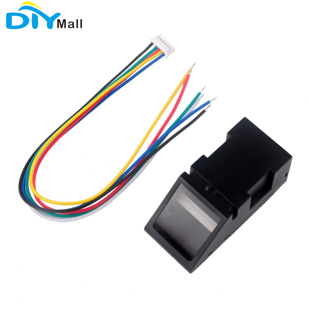 RCmall óptico lector de huellas dactilares Módulo de Sensor para Arduino Mega2560 UNO R3 51 AVR STM32 luz roja O40 DC 3,8-7 V FZ2904