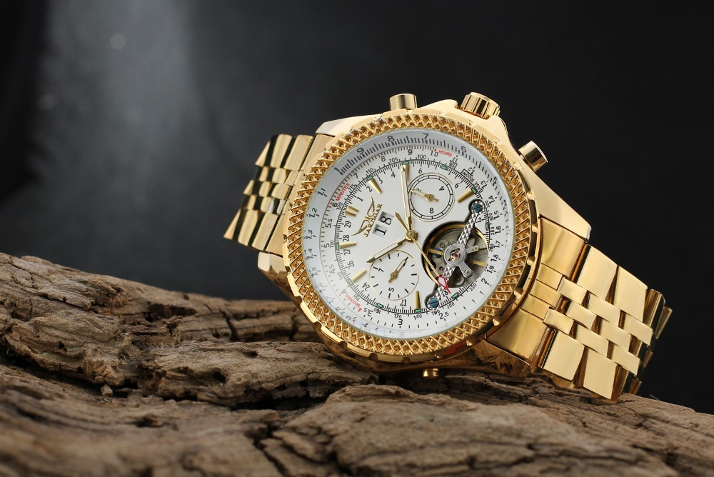 2016 Gold Hot Selling Brand relojes Man automatic tourbillion stainless steel material watches