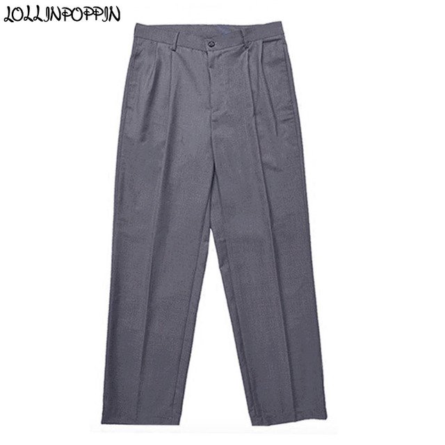 e04c4d2bf72c Hip Hop Men Gray Poppin Pants Street Dance Mens Grey Trousers Front Pleated  Popping Pants