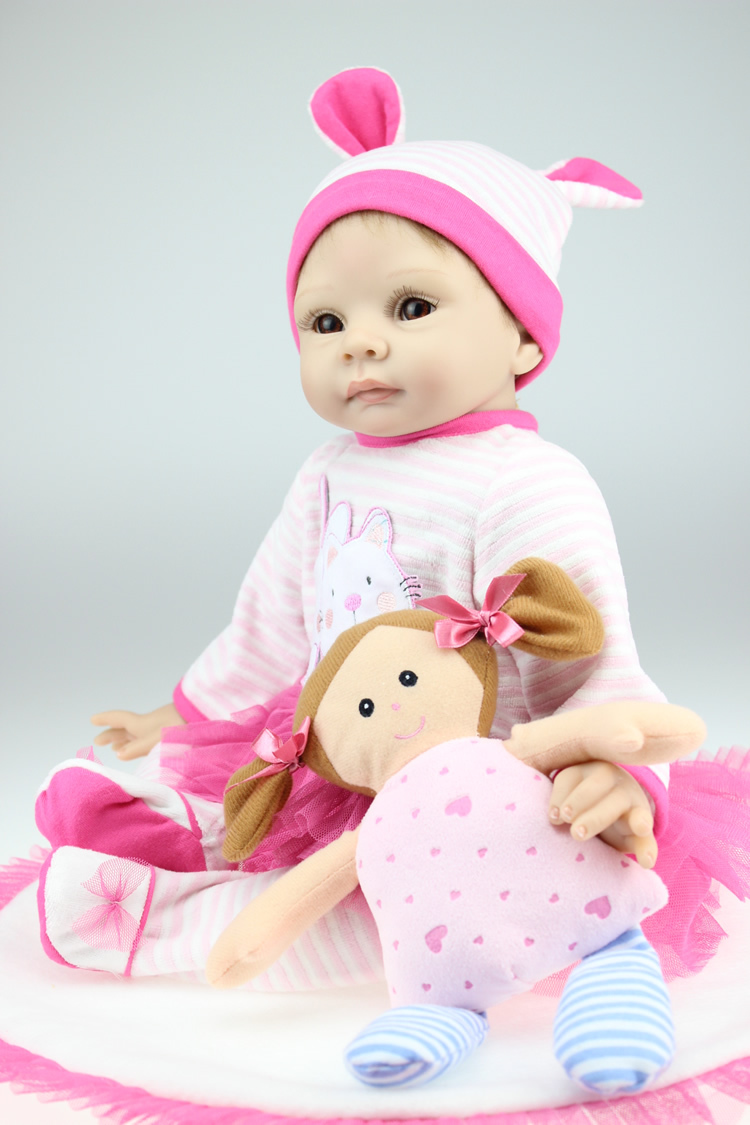 22 Inch Soft Silicone Collectible Newborn Baby Toys Realistic Reborn Babies Dolls Lifelike Baby Alive Children Birthday Gift fashion 22 silicone reborn baby dolls toys lifelike babies doll newborn silicone realistic best gift for children