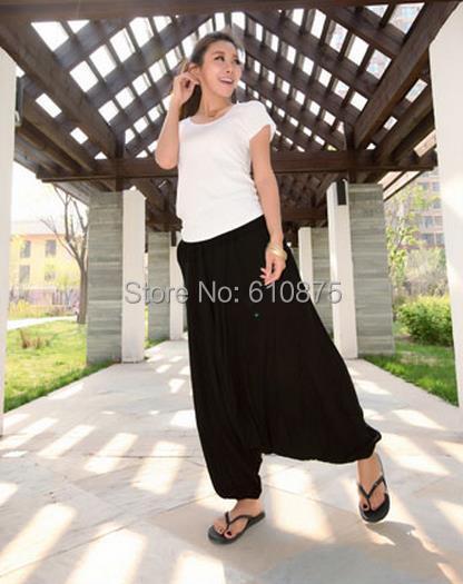 Wanita Musim Semi Pertengahan Elastis Pinggang 100% Katun Longgar - Pakaian Wanita - Foto 3
