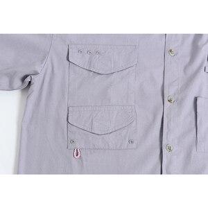 Image 4 - קצר שרוול דיג מזדמן חולצות הפתילה בד שמש הגנת מהיר יבש חיצוני גברים של קיץ חולצות לנשימה קמפינג חולצות