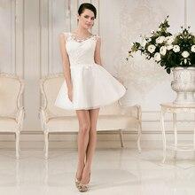Vestidos de noiva Custom Made Short Mini Beach Wedding font b Dresses b font 2017 font