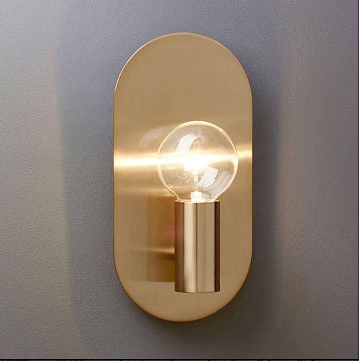 Nordique lampe de mur de cuivre salon TV fond mur chambre couloir de chevet miroir avant simple moderne lampe murale en laiton