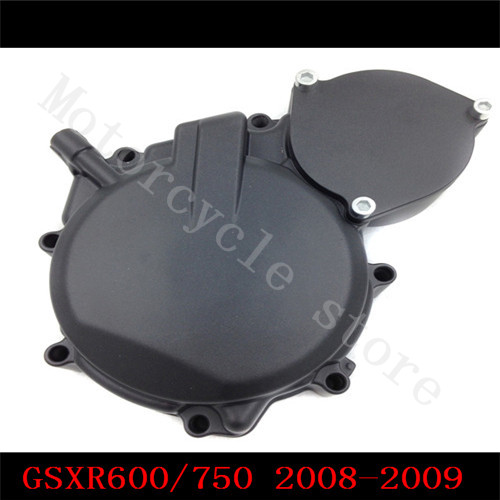 Fir for Suzuki GSXR600 GSXR750 GSX-R GSXR 600 2008-2009 Motorcycle Engine Stator cover Black Left side K8 aftermarket free shipping motorcycle part engine stator cover for suzuki gsxr600 750 2006 2007 2008 2009 2013 black left side