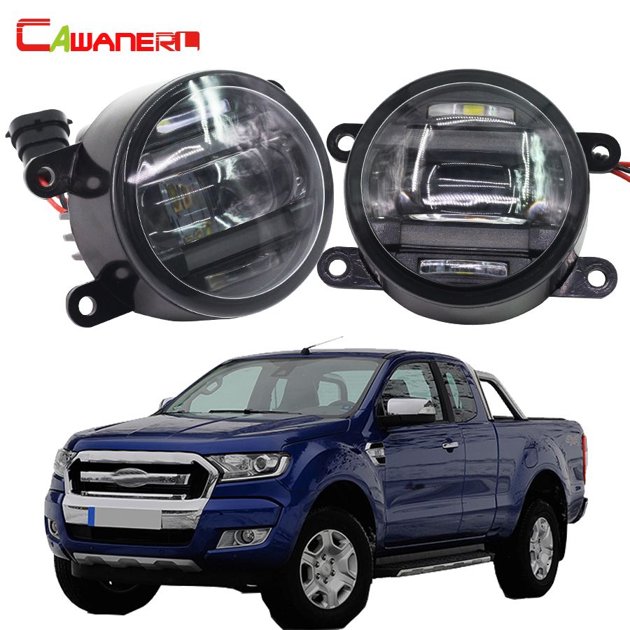 Cawanerl 2 X Car Accessories Right + Left Fog Light LED Daytime Running Lamp DRL High Power For Ford Ranger 2012-2015 cawanerl for toyota highlander 2008 2012 car styling left right fog light led drl daytime running lamp white 12v 2 pieces