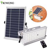 Foco inalámbrico para exteriores, 65 led, luz Solar superbrillante, 1500LM, 12W, resistente al agua, lámpara alimentada por energía Solar de jardín con Control remoto
