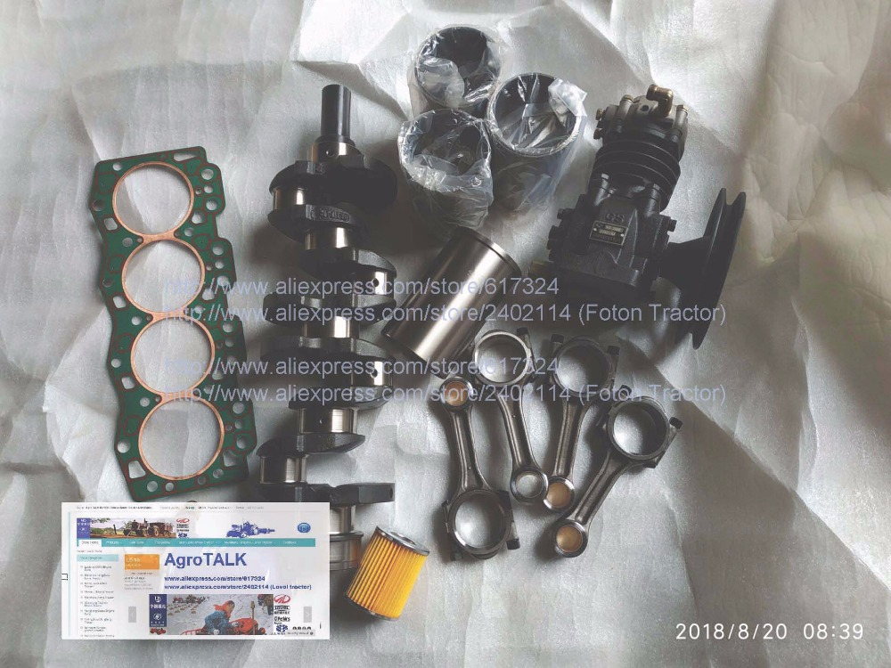 Changchai 4L68 engine, the set of repair kit including crankshaft, air compressor, liners, connecting rod, etc, parts number: genuine ud engine parts fd46 fd46t main crankshaft bearing con rod bearing connecting rod bushing