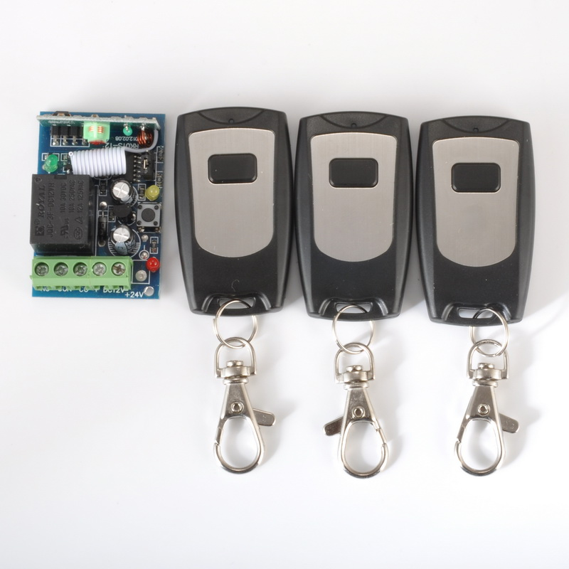 12V 1ch wireless remote control light/door switch system 1 Receiver &3 Transmitter Learning code 315/433mhz z-wave  free shipping 12v 1ch learning code wireless remote control switch system 1 receiver and 1 transmitter for entrance guard door