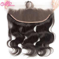 Pre-Plucked Lace Frontal With Baby Hair Mshere Body Wave Human Hair 13*4 Ear To Ear Lace Closure Indian Remy Hair Natural Black
