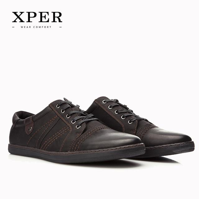 2016 XPER Brand Men Casual Shoes Round Toe Men Flats Shoes Breathable Black Dress Sporty Shoes For Men Big Size YM86813BN