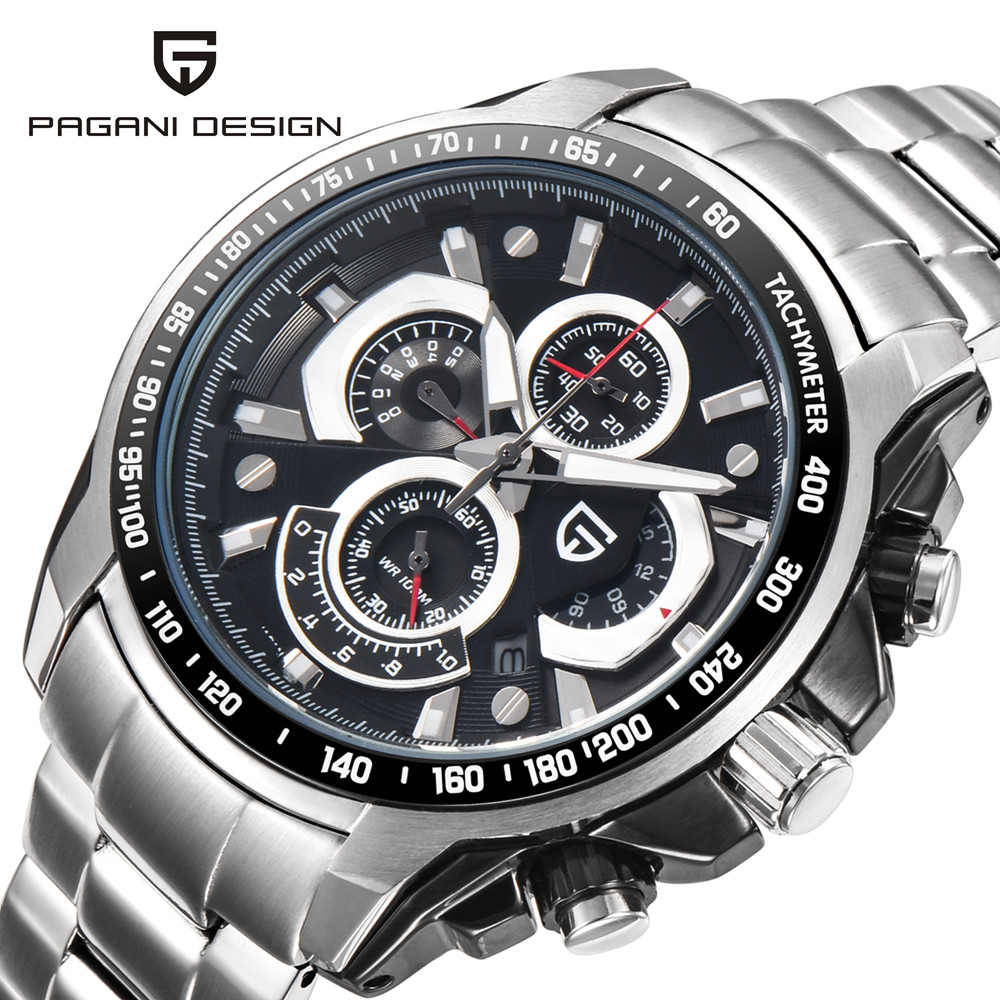 Military Watches Men Sport Chronograph Watch Male Top Brand Luxury Stainless Steel Waterproof Wrist Watch Men Clock reloj hombre stainless steel men chronograph watches luxury brand sport waterproof quartz watch men military wrist watch army men clock reloj