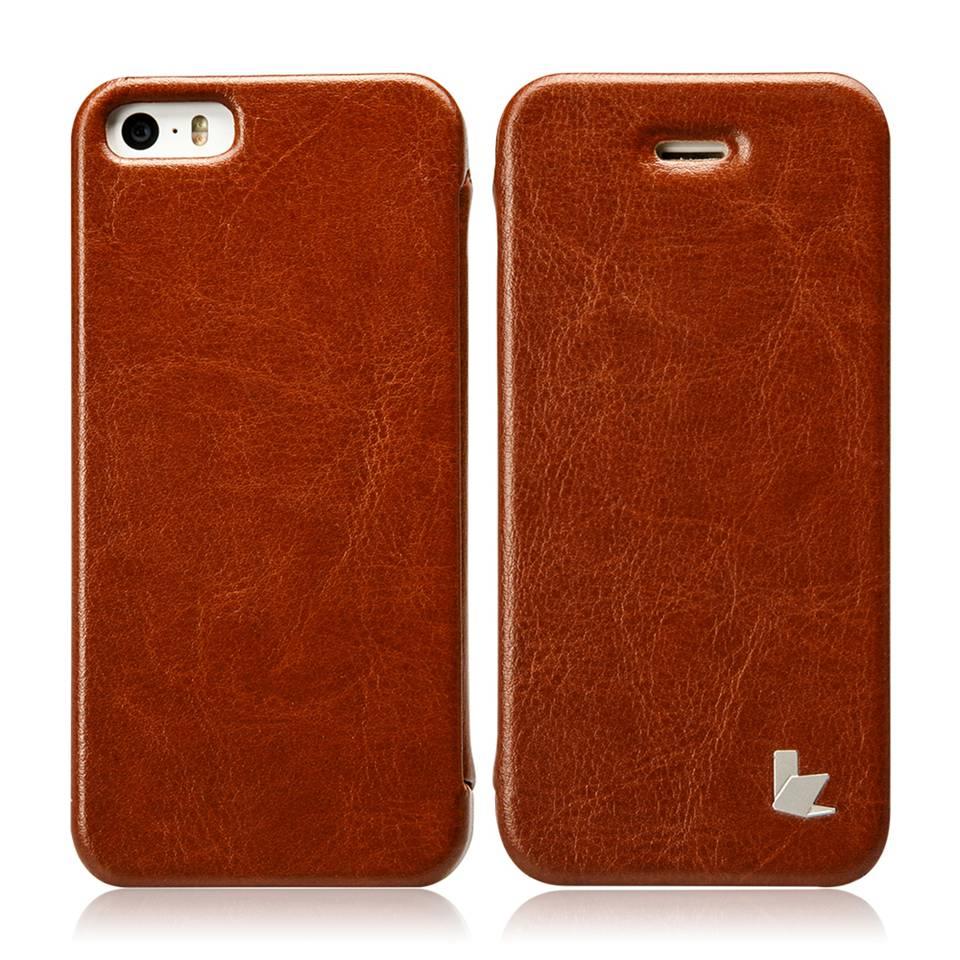 bilder für Jisoncase für iPhone SE 5 S 5 PU Ledertasche für iPhone 5 S 5 Fall Luxus Flip Abdeckung Telefon Shell für iPhone se antiklopf