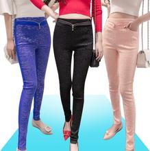New women Lace high-waisted outside wearing leggings Pencil pants show thin casual wild Sexy little feet pants G30