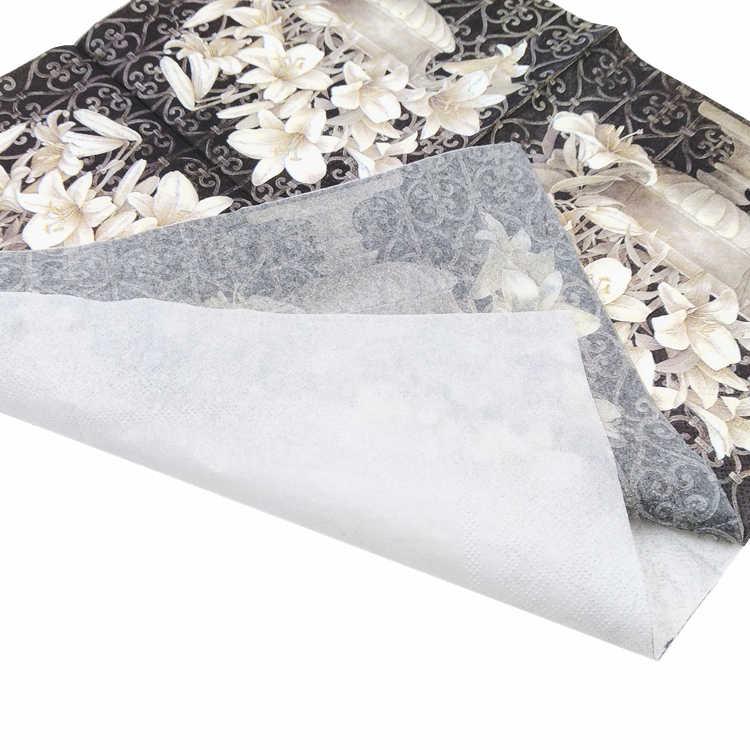 20 Винтаж столовая бумажная салфетка декупаж Свадьба Рождество День рождения цветок Белый Черный serviettes декоративные ткани
