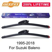 QEEPEI заменить стеклоочистителя для Suzuki Baleno 1995- силиконовой резины лобового стекла стеклоочиститель авто аксессуары
