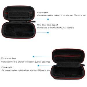Image 2 - حافظة محمولة Osmo جيب مع التحكم عجلة الطلب صندوق تخزين حقيبة ل dji Osmo جيب كاميرا gimbal اكسسوارات