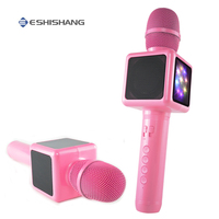 Karaoke Microphone Wireless Bluetooth Speaker Music Player Portable Handheld Microphones Party KTV Singing Device Gift for Girl