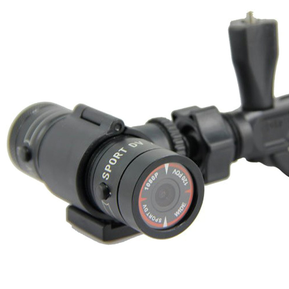 2 Packs Multifunction Sports DV Mini F9 DVR HD Camera H.264 5.0M Pix for Traveling Outdoor Sports - Black