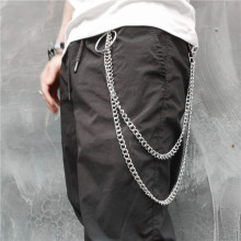 BLA Fashion Punk Hip-hop Pants chain Belt Waist Chain Jeans Keychain Metal Keyring Men women Accessories Jewelry Z30