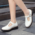Plus Size 34-43 new spring autumn  Women's casual shoes Mary Janes Ladies fashion sweet style round toe Med heel Flats shoes