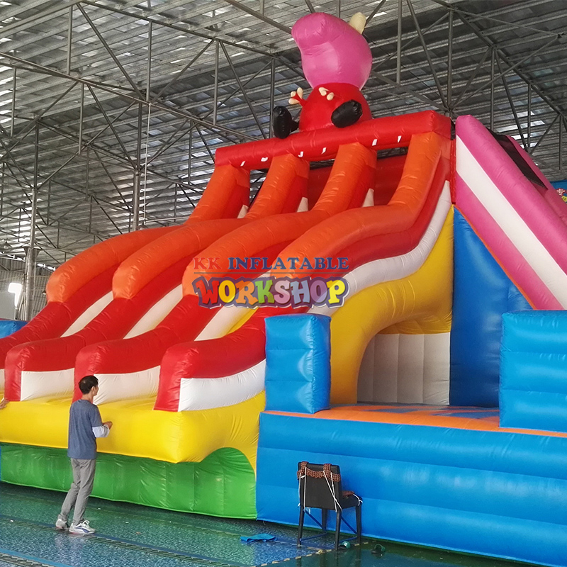 Good Quality Pig Cartoon Slide Inflatable Amusement Park For Sale