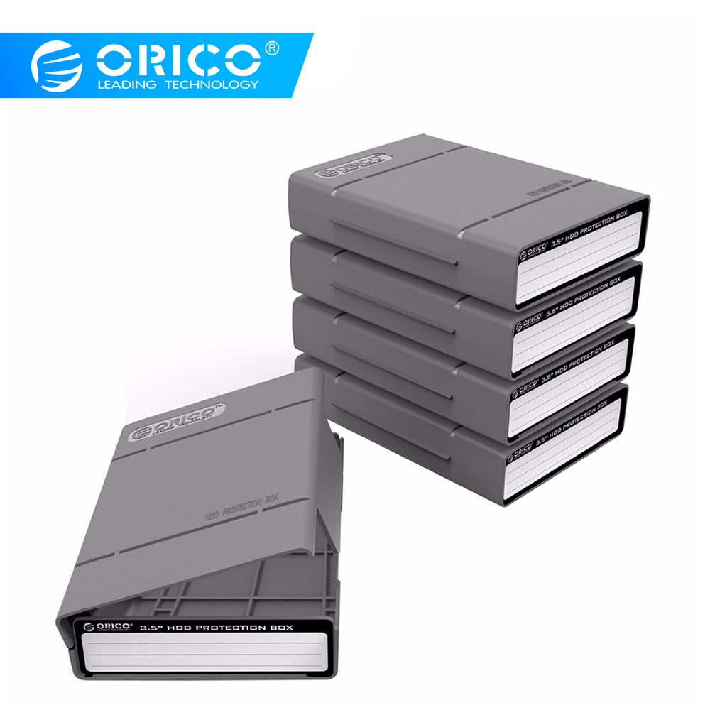 ORICO PHP-5S Portable PP 3.5 Inch Hard Drive Protective Box Waterproof External HDD Storage Case Cover With Mark Lable 5 Pcs