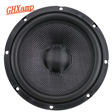 GHXAMP 6,5 Zoll Auto Vollständige Palette Bass Lautsprecher Verbund Woven Topf Mitten Woofer Lautsprecher Lange Hub Design Gummi 1PC