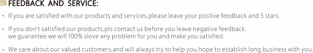 feedback and service