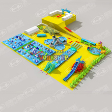 The new land inflatable water park  manufacturers