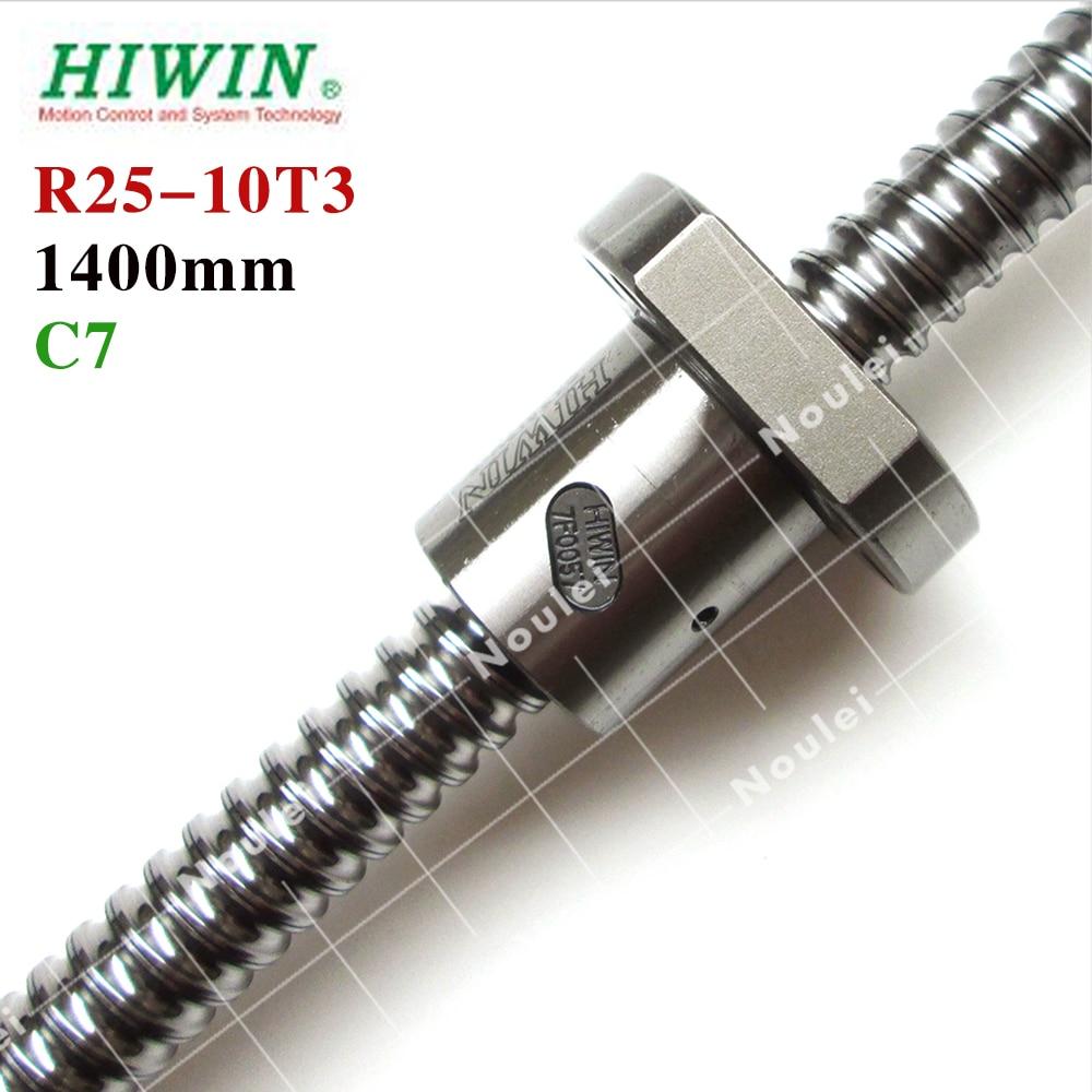 HIWIN 2510 ball screw 1400mm rolling C7 thread with 10mm lead ballnut accessories for CNC machine diy kit hyundai it a7 планшет