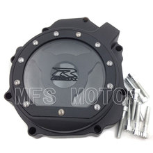 Motorcycle Accessories For Suzuki GSXR1000  2005 2006 2007 2008 left side Stator Engine cover see through Black free shipping motorcycle parts billet engine stator cover see through for suzuki gsxr 600 750 2006 2013 black left