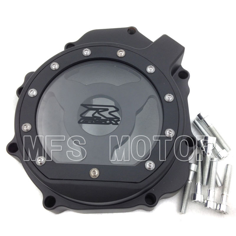 Motorcycle motor For Suzuki GSXR1000  2005 2006 2007 2008 left side Stator Engine cover see through Black