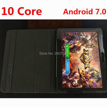 Unlock 10 inch 3G 4G FDD LTE Deca Core 4GB RAM 128GB ROM Dual SIM Android 7.0 OS 1920*1200 IPS GPS Kids Gift Tablet PC
