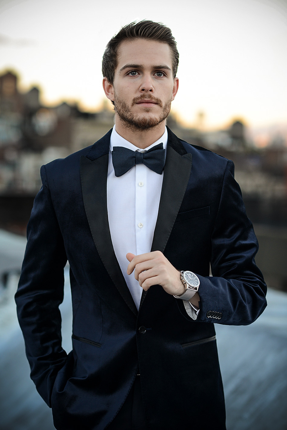 2018 New Fashion Groom\'s Wear Blue Velvet Tuxedos/Wedding Suits ...