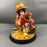 One Piece KM Monkey D Luffy Fat Resin Figure Model SD GK Collector Statue Figura