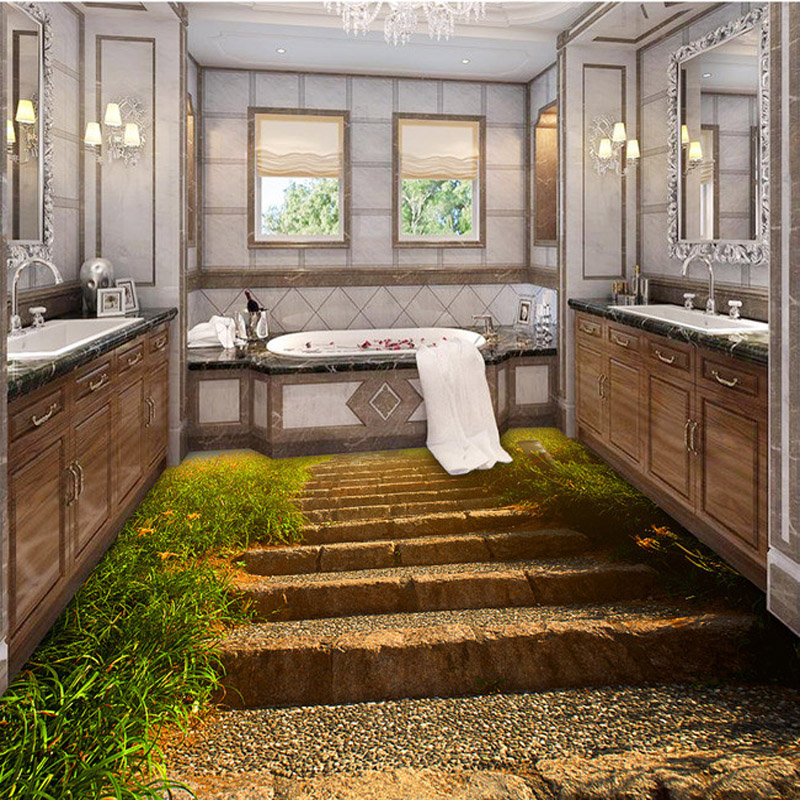 3d bathroom bathroom kitchen floor tiles non slip tiles antique balcony tiles ocean waves 3d floor tiles in floor clocks from home  u0026 garden on     3d bathroom bathroom kitchen floor tiles non slip tiles antique      rh   aliexpress com