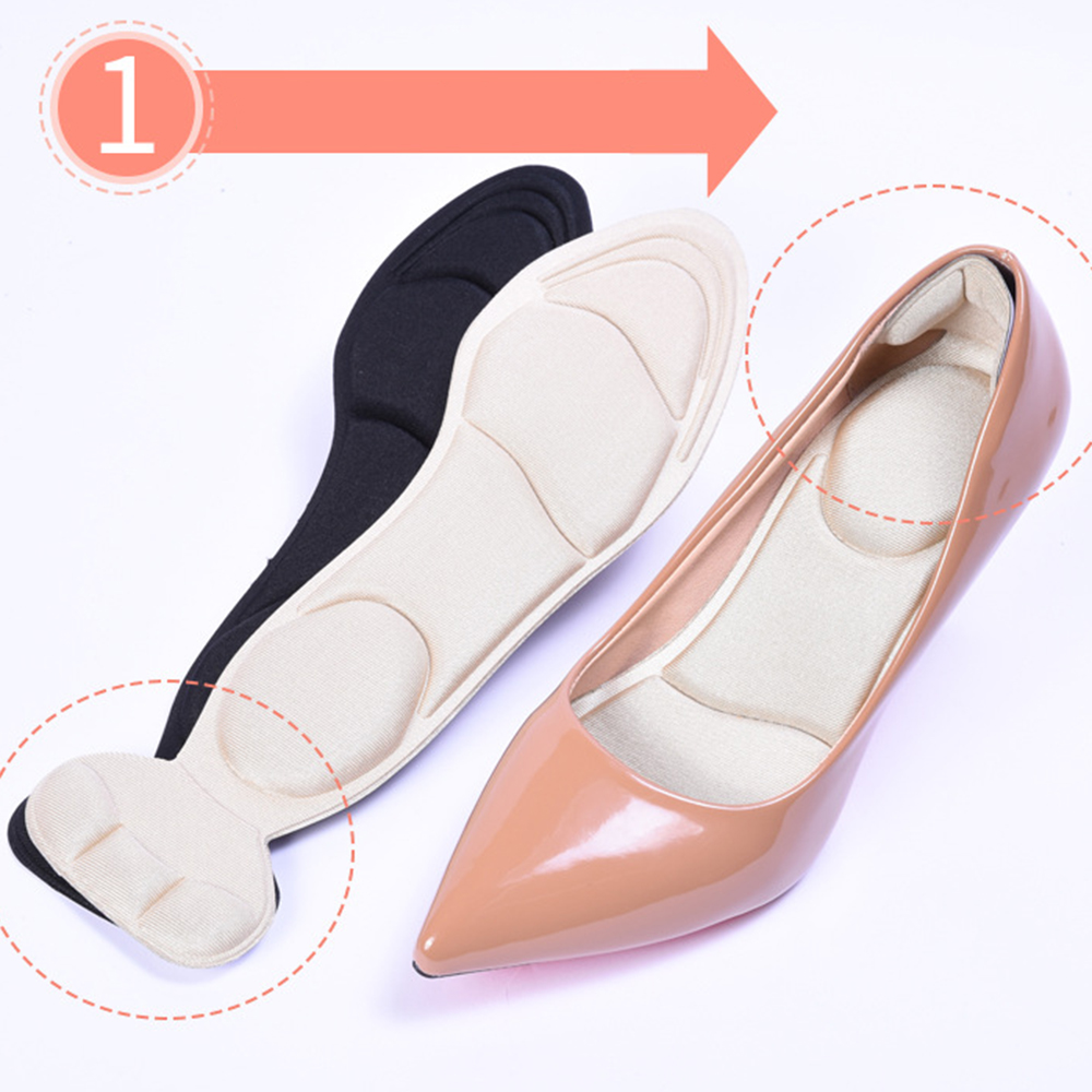 Summer Cushion Insoles Female Anti-slip High Heel Pad Wicking Printed Flat Foot Leather Stretch Deodorization Breathable