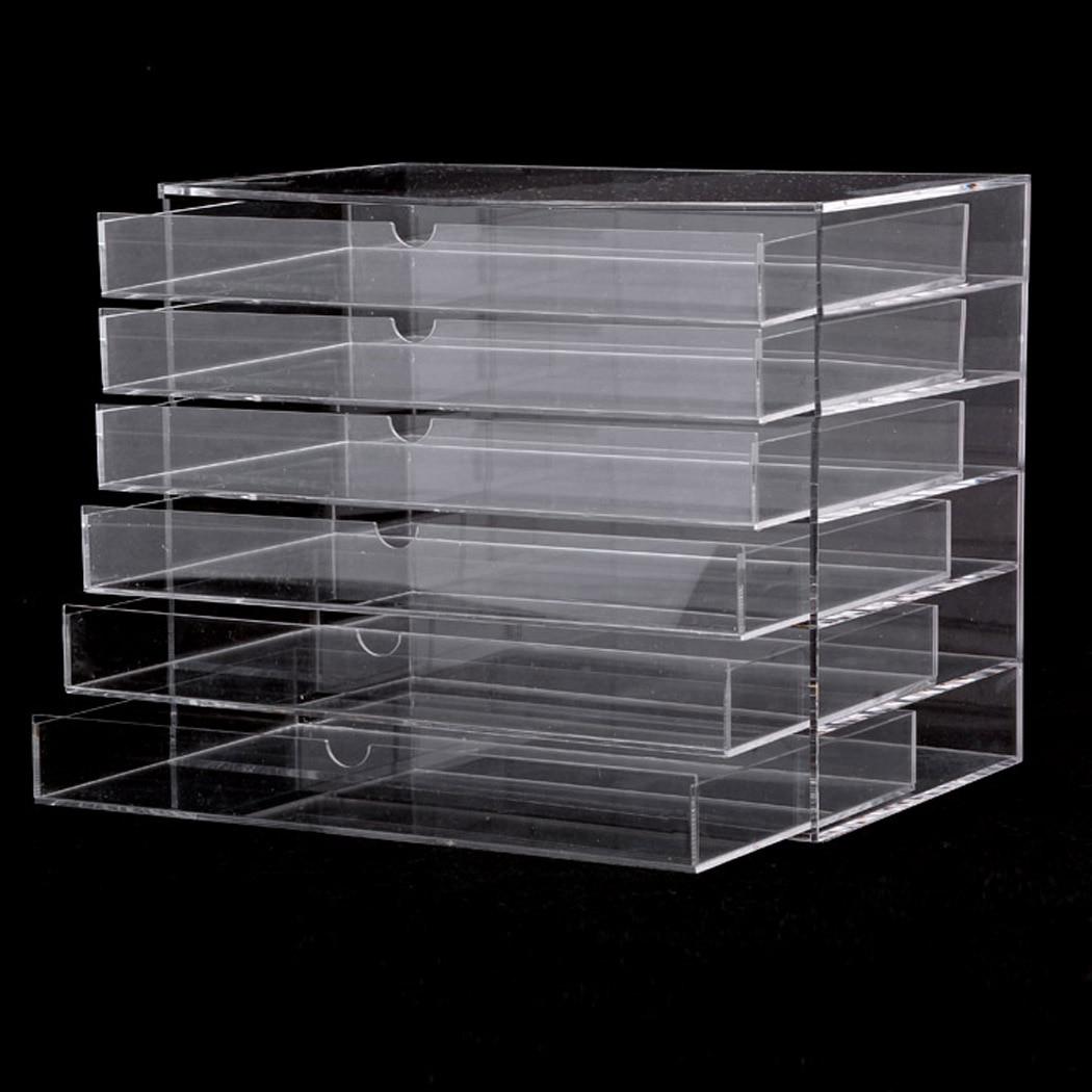Homdox Clear Acrylic Cosmetic Organizer Makeup Case Sundry Storage