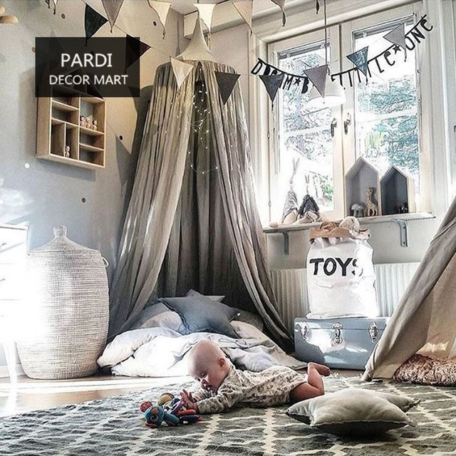 Nice Bed curtain 4 colors tent round sparver kids room decoration 1pc/lot & Nice Bed curtain 4 colors tent round sparver kids room decoration ...